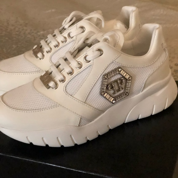 Phillip Plein Womens Sneakers In White